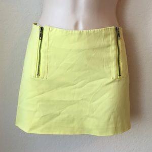 Neon yellow Elizabeth and James mini skirt